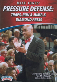 Pressure Defense: Traps, Run & Jump, & Diamond Press by Mike Jones Instructional Basketball Coaching Video