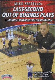 Last Second Out of Bounds Plays by Mike Fratello Instructional Basketball Coaching Video