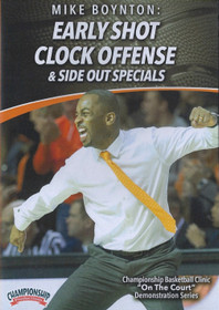 Early Shot Clock Offense & Side Out Specials by Mike Boynton Instructional Basketball Coaching Video