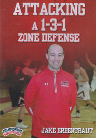 Attacking a 1-3-1 Zone Defense by Jake Erbentraut Instructional Basketball Coaching Video
