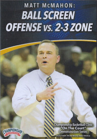 Ball Screen Offense vs. 2-3 Zone Defense by Matt McMahon Instructional Basketball Coaching Video