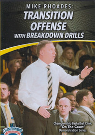 Basketball Transition Offense with Breakdown Drills by Mike Rhoades Instructional Basketball Coaching Video