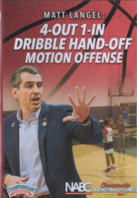 4 Out 1 In Dribble Hand Off Motion Offense by Matt Langel Instructional Basketball Coaching Video