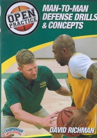 Man to Man Defense Drills & Concepts by David Richman Instructional Basketball Coaching Video