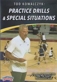 Basketball Practice Drills & Special Situations by Tod Kowalczyk Instructional Basketball Coaching Video