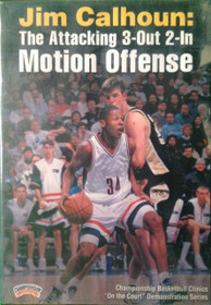The Attacking 3--out--2--in Motion by Jim Calhoun Instructional Basketball Coaching Video