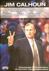 Total Zone Offense & Pressure Man by Jim Calhoun Instructional Basketball Coaching Video