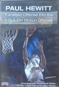 Transition Offense Into 4--out--1--in by Paul Hewitt Instructional Basketball Coaching Video