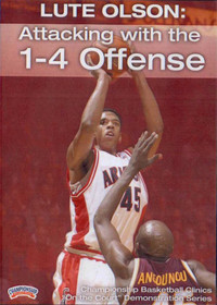 Attacking With The 1--4 Offense by Lute Olson Instructional Basketball Coaching Video