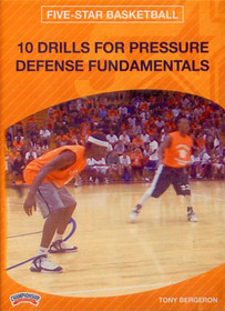 10 Drills For Pressure Defense by Tony Bergeron Instructional Basketball Coaching Video