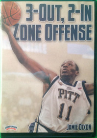 3 Out, 2 In Zone Offense by Jamie Dixon Instructional Basketball Coaching Video