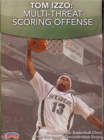 Tom Izzo: Multi--threat Scoring Offense by Tom Izzo Instructional Basketball Coaching Video