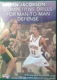 Competitive Drills For Man--to--man Defense by Ben Jacobson Instructional Basketball Coaching Video