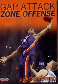 Gap Attack Zone Offense by Brad Brownell Instructional Basketball Coaching Video