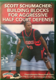 Building Blocks For Aggressive Half Court Defense by Scott Schumacher Instructional Basketball Coaching Video
