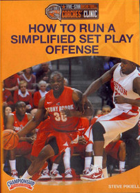 How To Run A Simplified Set Play Offense by Steve Pikiell Instructional Basketball Coaching Video