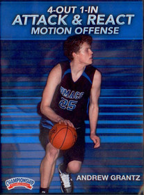 4 Out 1 In Attack & React Motion Offense by Andrew Grantz Instructional Basketball Coaching Video