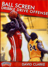 Ball Screen Dribble Drive Offense by Dave Clarke Instructional Basketball Coaching Video