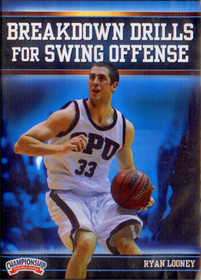 Breakdown Drills For Swing Offense by Ryan Looney Instructional Basketball Coaching Video