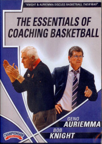 Auriemma & Knight: Essentials Of Coaching Basketball by Geno Auriemma Instructional Basketball Coaching Video
