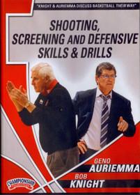Auriemma & Knight: Shooting, Screening, Defensive Drills by Geno Auriemma Instructional Basketball Coaching Video