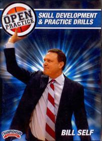 Bill Self Open Practice: Skill Development & Practice Drills by Bill Self Instructional Basketball Coaching Video