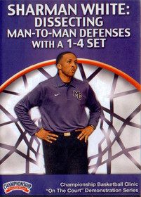 Dissecting Man To Man Defenses With A 1-4 Set by Sharman White Instructional Basketball Coaching Video