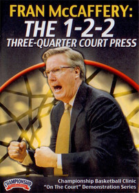 1-2-2 Press Three-quarter Court Press by Fran McCaffery Instructional Basketball Coaching Video