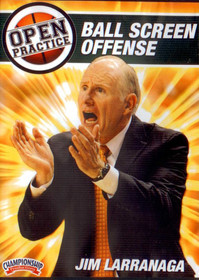 Open Practice: Ball Screen Offense by Jim Larranaga Instructional Basketball Coaching Video