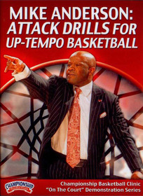 Attack Drills For Up-tempo Basketball by Mike Anderson Instructional Basketball Coaching Video