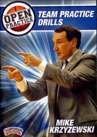 Mike Krzyzewski Open Practice: Team Practice Drills by Mike Krzyzewski Instructional Basketball Coaching Video
