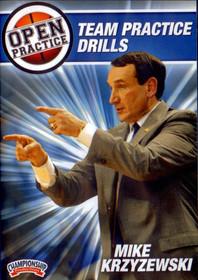 Mike Krzyzewski Open Practice: Team Practice Drills by Mike Krzyzewski Instructional Basketball Coaching Video