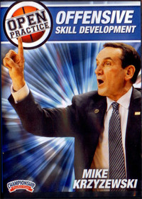 Mike Krzyzewski Open Practice: Offensive Skill Development by Mike Krzyzewski Instructional Basketball Coaching Video