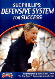 Defensive System For Success by Sue Phillips Instructional Basketball Coaching Video