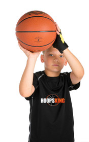 The Wet Mitt is worn on the non-shooting hand to help prevent thumbing the basketball.