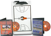 Youth Basketball Coach dry erase board and videos.