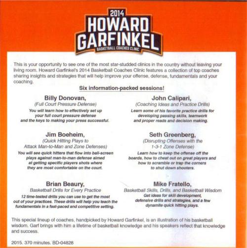 (Rental)-2014 Howard Garfinkel Basketball Coaches Clinic