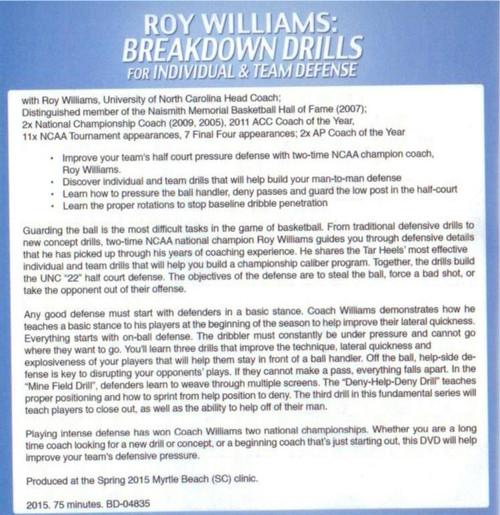 (Rental)-Breakdown Basketball Defense Drills For Individual & Team Defense