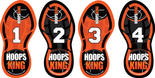 HoopsKing Basketball Footwork Training Steps  are great for footwork drills,  workouts, teaching youth players.