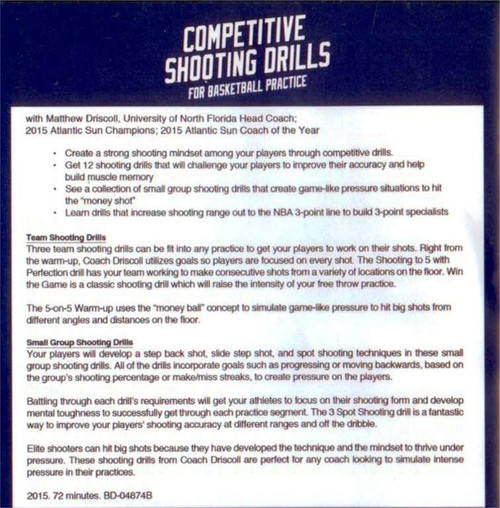 (Rental)-Competitive Shooting Drills For Basketball Practice