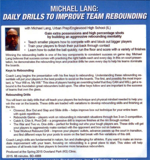 (Rental)-Daily Drills To Improve Team Rebounding