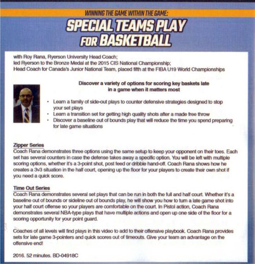 (Rental)-Special Teams Play For Basketball