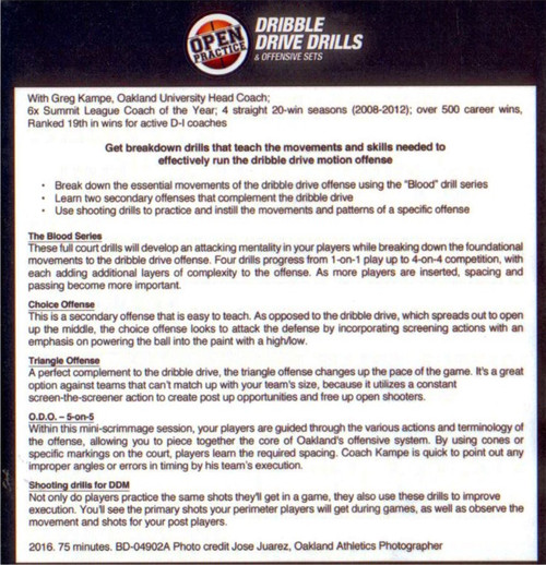 Dribble Drive Offense Drills