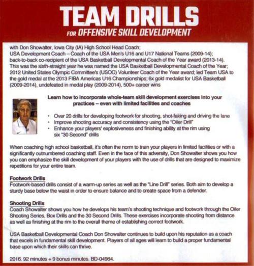 (Rental)-Team Drills For Offensive Skill Development