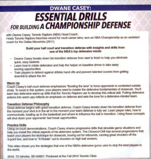 basketball defense drills transition & warmup
