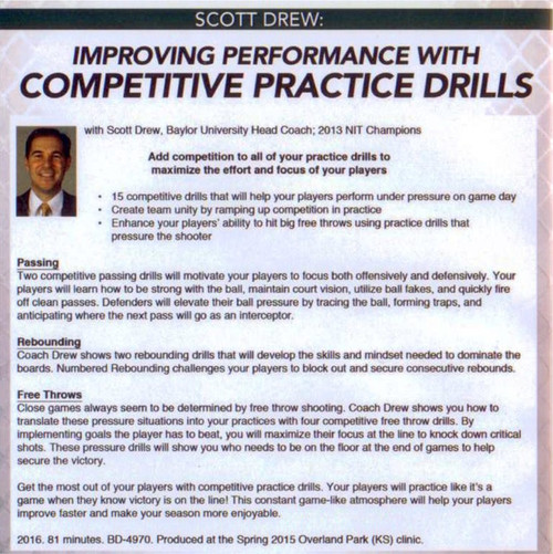 (Rental)-Improving Performance With Competitive Basketball Drills
