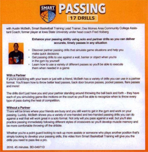 basketball passing drills DVD