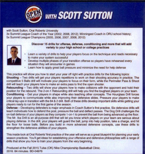 basketball drills video Scott Sutton