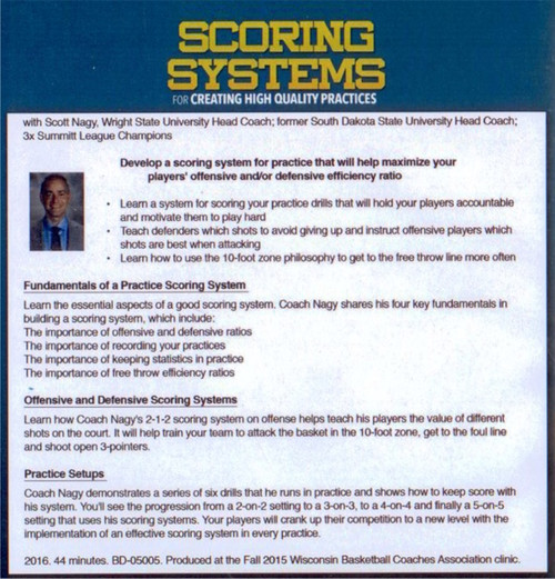 basketball scoring system for more competive practices