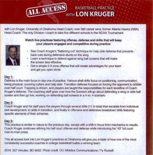 Basketball Practice & Basketball Drills with Oklahoma's Lon Kruger